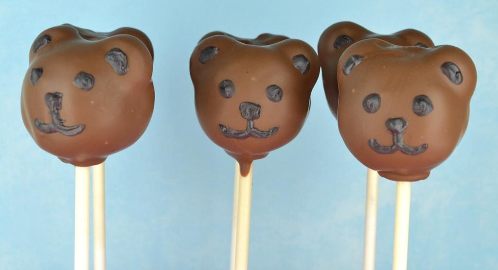 Teddy Bear Cake Pops A Stick