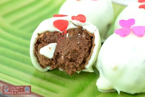 Inside of the Chocolate Truffles