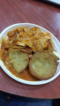 Cabbage, meat, potato patties