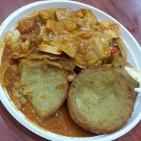 Cabbage, meat, potato patties